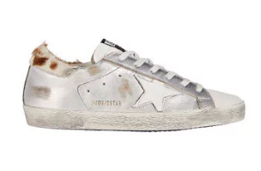 Golden Goose Superstar Calf Hair-Trimmed Sneaker