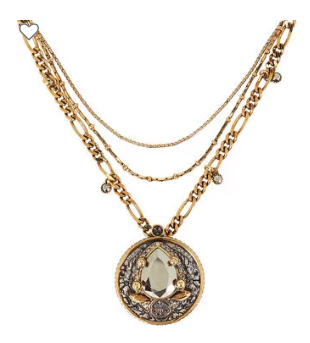 Alexander McQueen Signature Layered Pendant Necklace