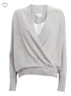 Brochu Walker Looker Layered Wrap Sweater